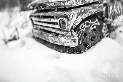 Photograph - Old Abandoned Truck Tilt Shift by Edward Fielding