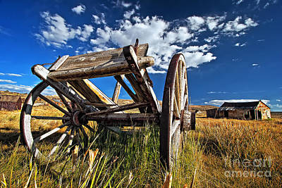 Old Abandoned Wagon, Bodie Ghost Town, California Art Print