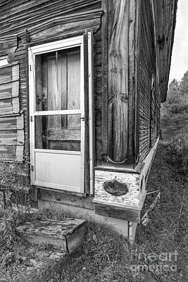 Photograph - Old Abandoned Wood Framed Home Wolcott Vermont by Edward Fielding