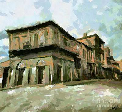 New Orleans Oil Painting - Old Absinthe House by Dragica Micki Fortuna