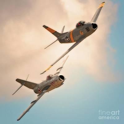 Old Adversaries F-86 Sabre And Mig 15  2011 Chino Air Show Original