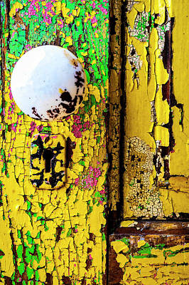 Photograph - Old Aged Door With Doorknob by Garry Gay