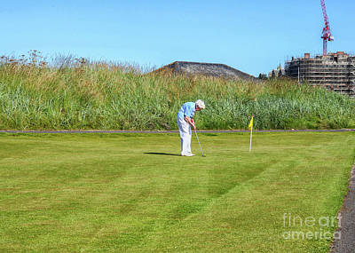 Photograph - Old Aged Woman Playing Golf by Patricia Hofmeester