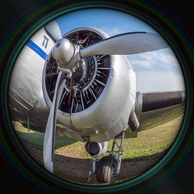 Sean Rights Managed Images - Old airplane engine in camera lens Royalty-Free Image by Miroslav Nemecek
