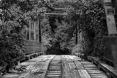 Photograph - Old Alton Bridge Black And White by JC Findley