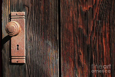 Photograph - Old Amboy Grange Door  by Rich Collins