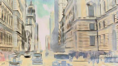 Drawing - Old America by Sergey Lukashin