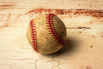 Photograph - Old American Baseball by Garry Gay