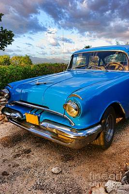 Cuba Photograph - Old American Classic Car In Trinidad, Cuba by Mikko Palonkorpi