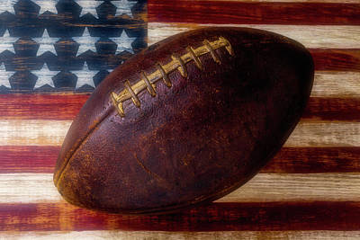 Photograph - Old American Football by Garry Gay