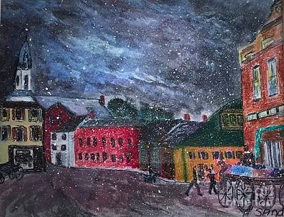 Painting - Old Amesbury Early Winter by Anne Sands