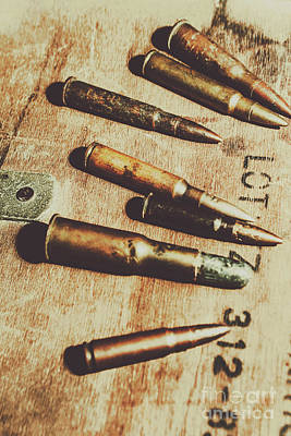 Bullet Wall Art - Photograph - Old Ammunition by Jorgo Photography - Wall Art Gallery