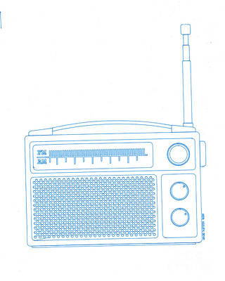 Old Objects Drawing - Old Analog Radio by Igor Kislev