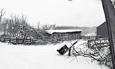 Shed Digital Art - Old And Abandoned by Carrie Wilhelm