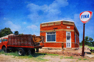 Photograph - Old And Abandoned Fina Gas Station by Anna Louise