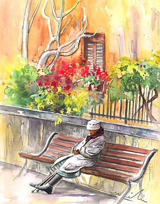 Painting - Old And Lonely In Italy 01 by Miki De Goodaboom