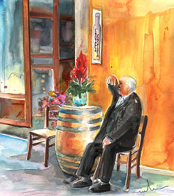 Painting - Old And Lonely In Italy 02 by Miki De Goodaboom