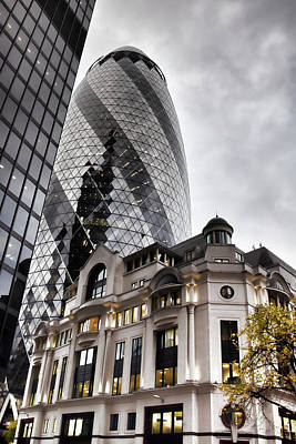 Digital Art - Old And New London by Mihaela Pater