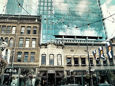 Photograph - Old And New On Larimer Street Two by Ann Powell