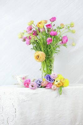 Photograph - Old And New Ranunculus by Susan Gary