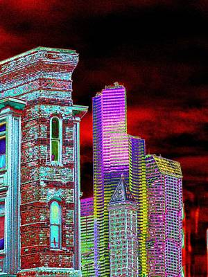 Digital Art - Old And New Seattle by Tim Allen
