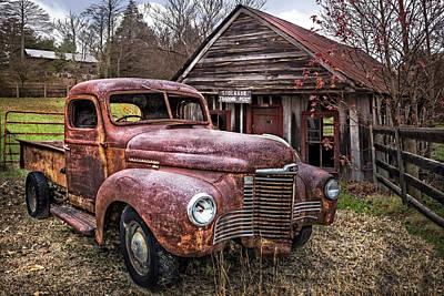 Old And Rusty Art Print by Debra and Dave Vanderlaan