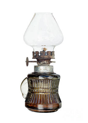 Oil Lamp Photograph - Old And Used Kerosene Lamp by Michal Boubin