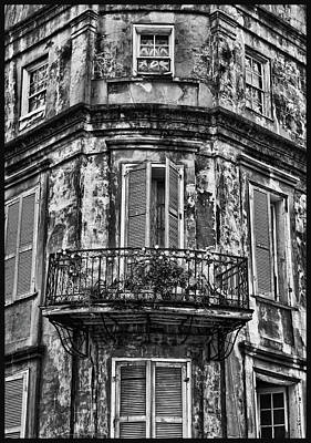 Photograph - Old And Weathered Black And White by Judy Vincent