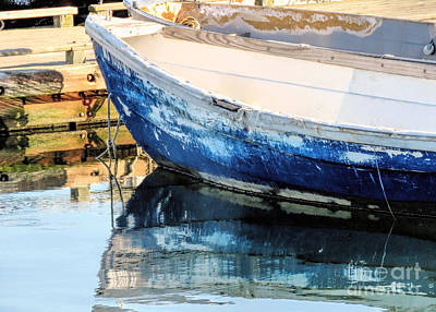 Photograph - Old And Weathered Skiff  by Janice Drew