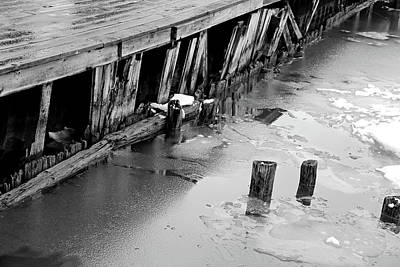 Photograph - Old And Worn Along The Saint Clair Rvier 1 Bw by Mary Bedy