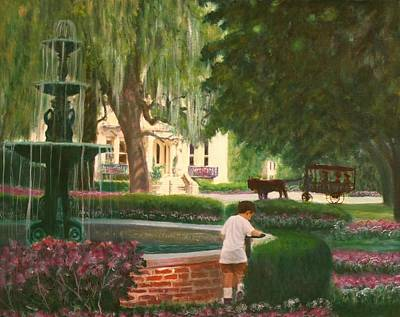 Old And Young Of Savannah Art Print by Ben Kiger