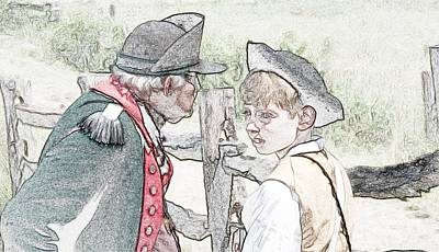 Colonial Man Digital Art - Old And Young by Robert Nelson