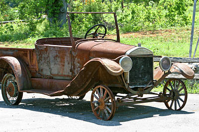 Homesickness Photograph - Old Antique Vehicle by Douglas Barnett