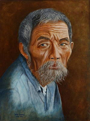 Painting - Old Asian Worker by David Hawkes