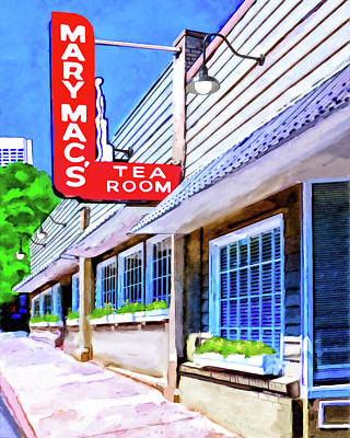 Mixed Media - Old Atlanta - Mary Mac's Tea Room by Mark Tisdale