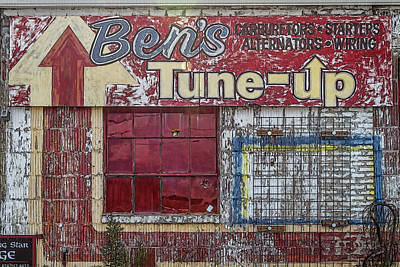 Photograph - Old Automotive Sign by John Haldane