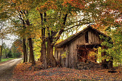 Photograph - Old Autumn Shed by Richard Gregurich