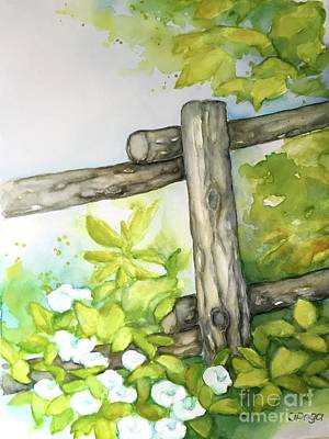 Painting - Old Backyard Fence by Inese Poga