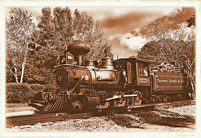 Photograph - Old Baldwin Locomotive by Ben Prepelka