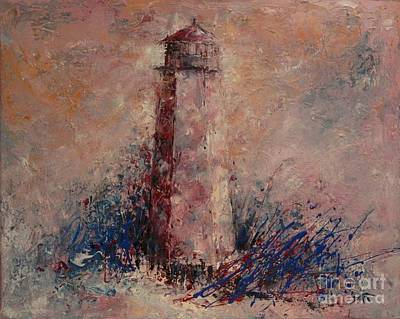 Vacation Spots Painting - Old Baldy Lighthouse by Dan Campbell