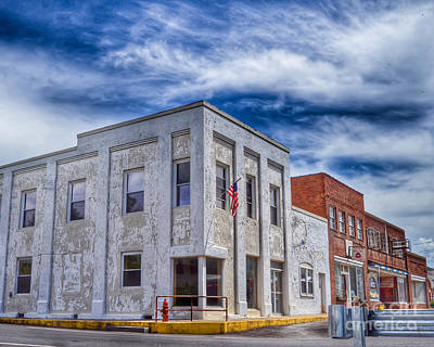 Photograph - Old Bank Building - Peterstown West Virginia by Kerri Farley