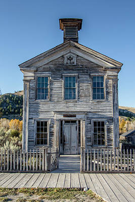 Photograph - Old Bannack Schoolhouse And Masonic Temple 2 by Teresa Wilson