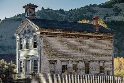 Photograph - Old Bannack Schoolhouse And Masonic Temple 3 by Teresa Wilson