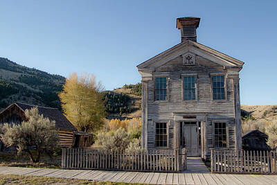 Photograph - Old Bannack Schoolhouse And Masonic Temple 4 by Teresa Wilson