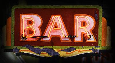 Photograph - Old Bar Sign by Nadalyn Larsen