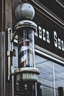 Sweeney Todd Photograph - Old Barber Pole by Christopher Kulfan