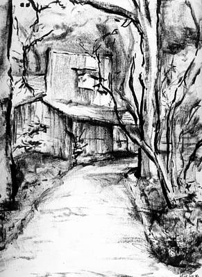 Drawing - Old Barn by Michael Ivy