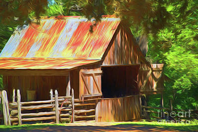 Photograph - Old Barn 11618 by Ray Shrewsberry