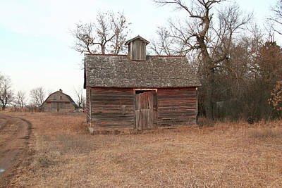 Photograph - Old Barn And Shed, Just Ain't What They Used To Be by Amelia Painter