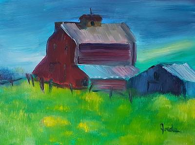Painting - Old Barn And Shed  by Steve Jorde